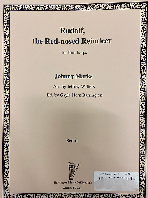 Marks arr. Walters: Rudolph, the red-nosed Reindeer for four harps
