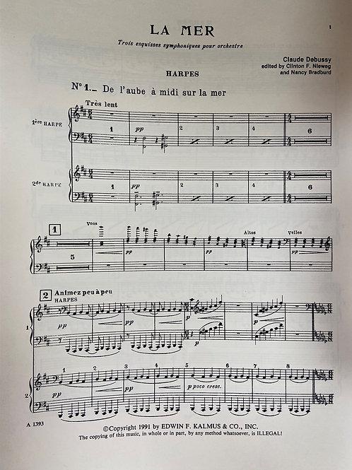 Debussy: La Mer harp parts