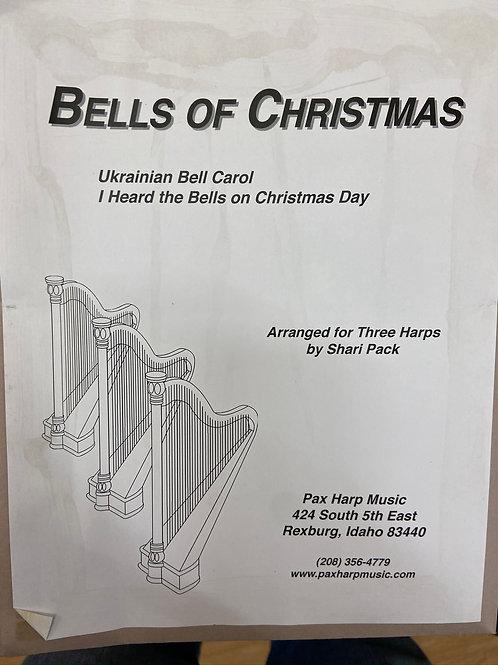 Pack: Bells of Christmas arr. 3 harps