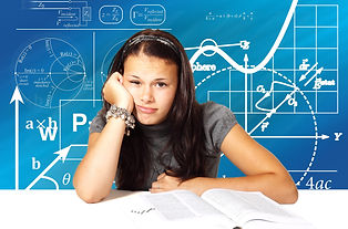 school-3666924_1920 girl bored math symb