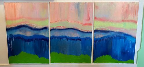 Beach at Twilight (Triptych)