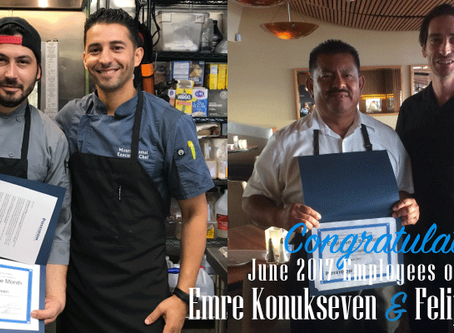 A Round of Applause for our June 2017 Employees of the Month