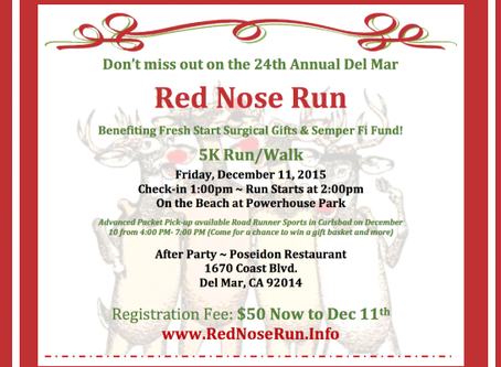 Red Nose Run December 11, 2015 Del Mar