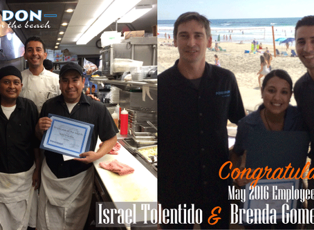 Celebrating our May Employees of the Month Israel and Brenda