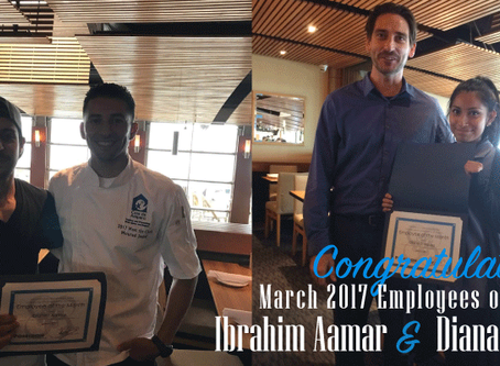 Great Job to Our March 2017 Employees of the Month