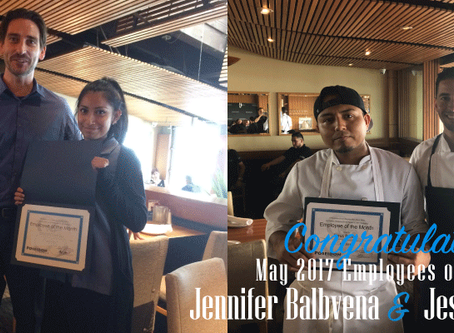 Great Job To Our May 2017 Employees of the Month