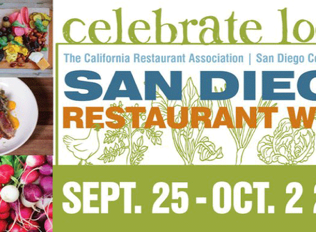 San Diego Restaurant Week September 25 - Oct 2, 2016