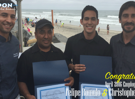 April 2016 Poseidon Del Mar Employees of the Month