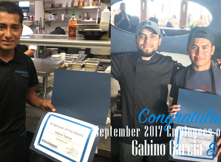 Congratulations to our Posiedon Del Mar September 2017 Employees of the Month