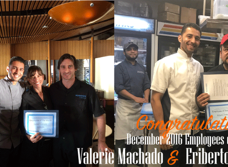 Congratulations to our December 2016 Employees of the Month
