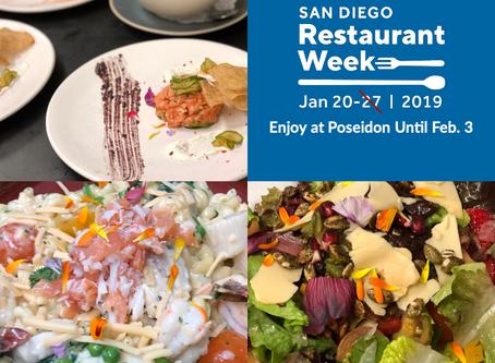 San Diego Restaurant Week Jan 20th to Feb 3rd at Poseidon Del Mar