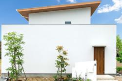 シンプルに白い壁