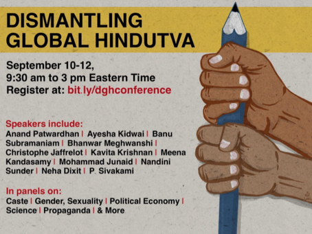 """HfHR writes in support of the """"Dismantling Global Hindutva"""" conference"""