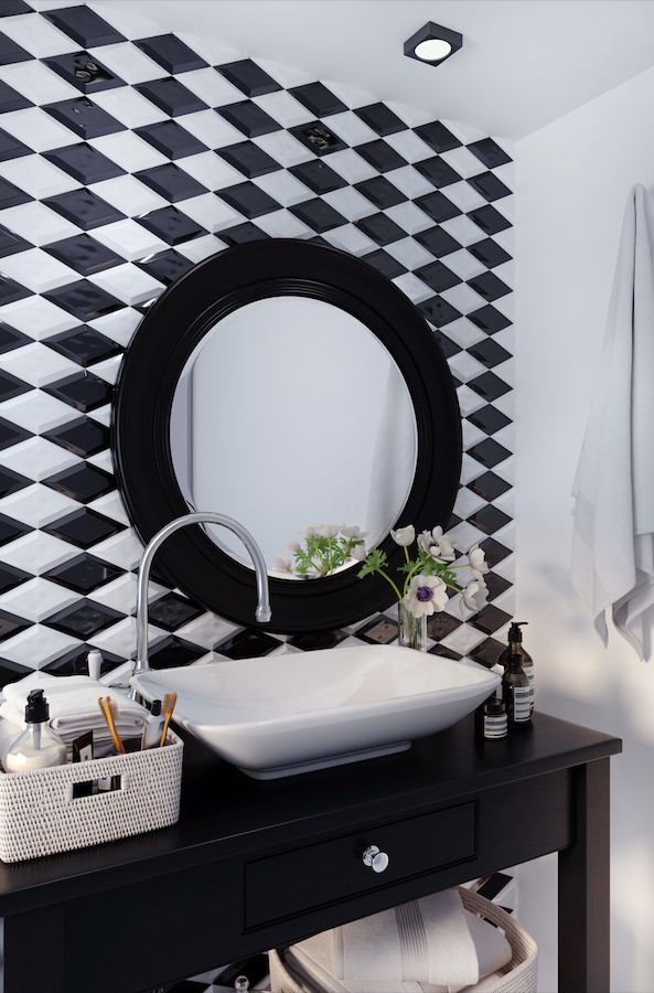 ROMBO BEVELED BLACK AND WHITE