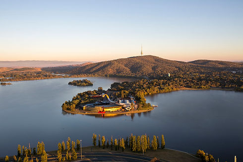 Aerial view of the National Museum of Australia, Canberra