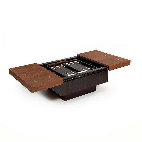 Backgammon coffee shagreen table