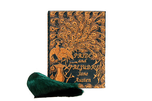 Jane Austen in green leather mini