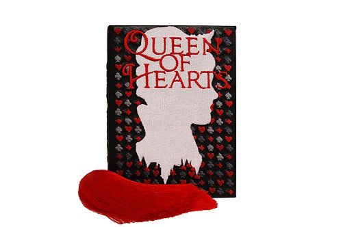 """Queen Of Heart"" leather mini clutch"