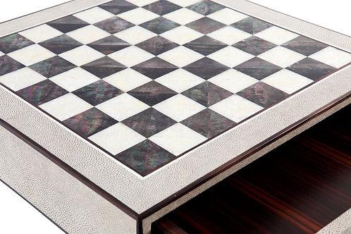Antique Shagreen Chess Box