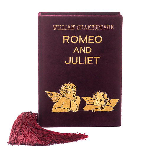 Romeo and Juliet burgundy clutch