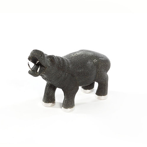 Shagreen Hippo Black