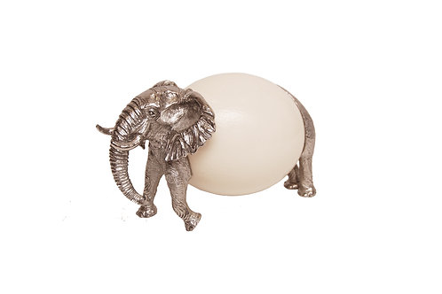 Elephant with Ostrich Egg