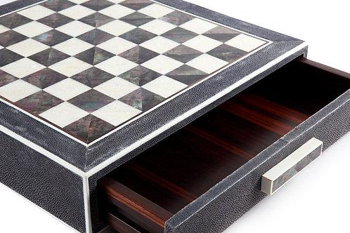 Tabac Shagreen Chess Box