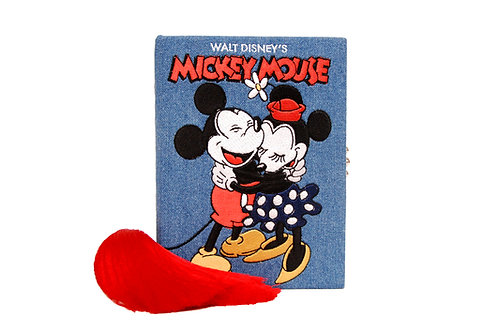 Mickey Mouse Denim Clutch
