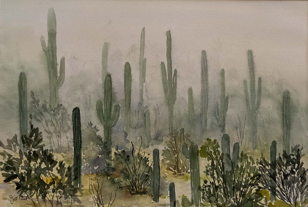 Jill Caid - Desert water color