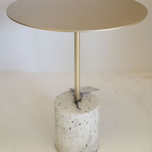 SIDE TABLE WITH MARBLE