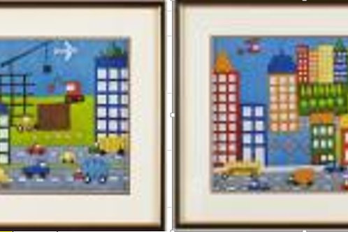 CITY FRAMED PRINT (SET OF 2)