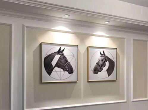HORSE FACE FRAMED PRINTS (SET-2)