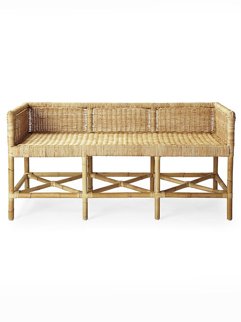 HIGH BACK SEAGRASS BENCH