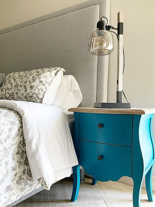 FRENCH PROVINCIAL NIGHTSTAND (BLUE)
