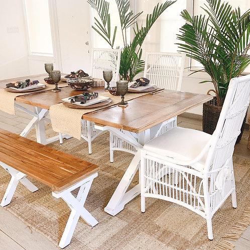 CROSS LEGS DINING TABLE
