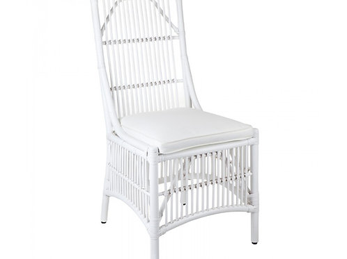 BAMBOO DINING CHAIR (WHITE)
