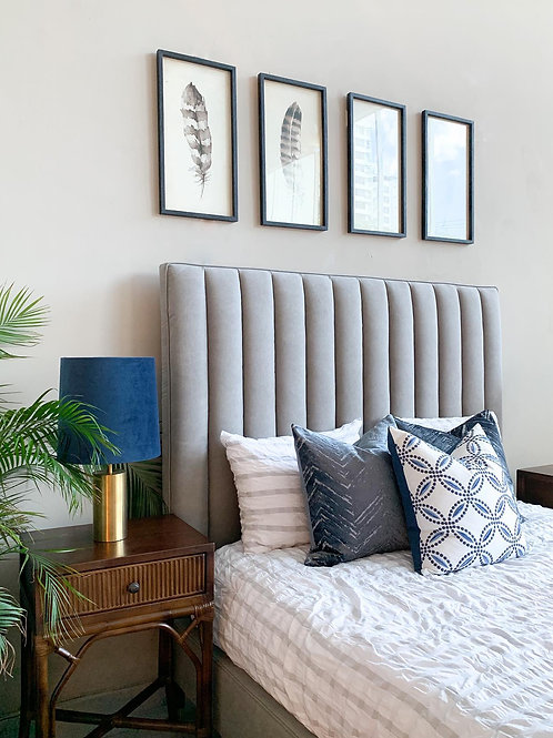 PANEL KING BED (GRAY)