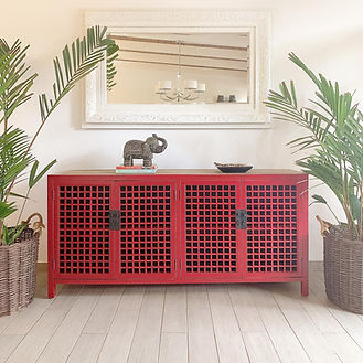 sideboard red