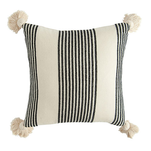 STRIPED PILLOW (BLACK)