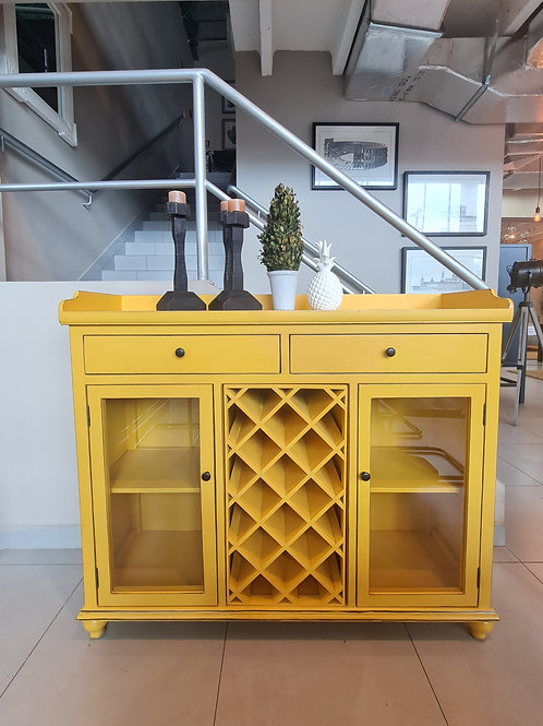 WINE CABINET (YELLOW)