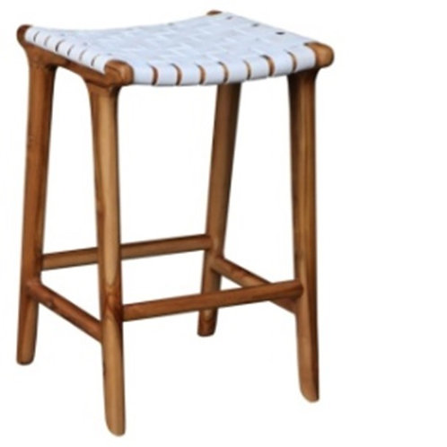 STOOL WITH LEATHER