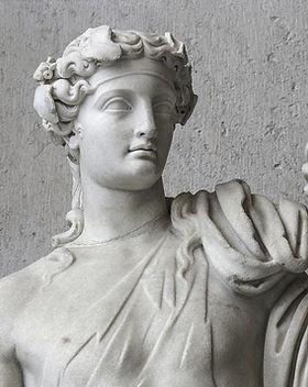 Escultura de pedra antiga