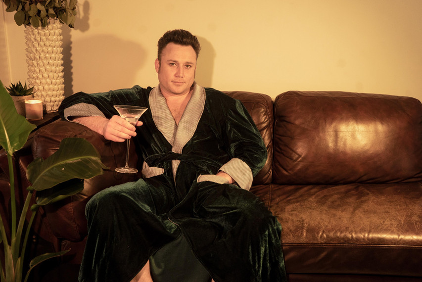 Mens Green Velvet Dressing Gown