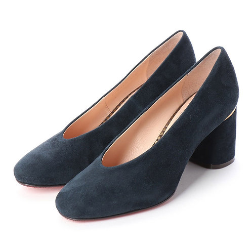 Soft square pumps Navy