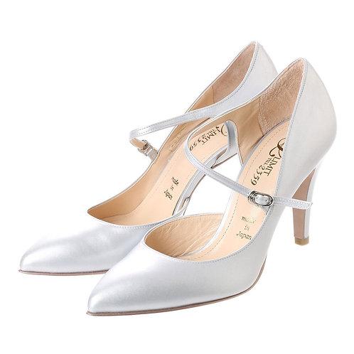Strap heel pumps Silver