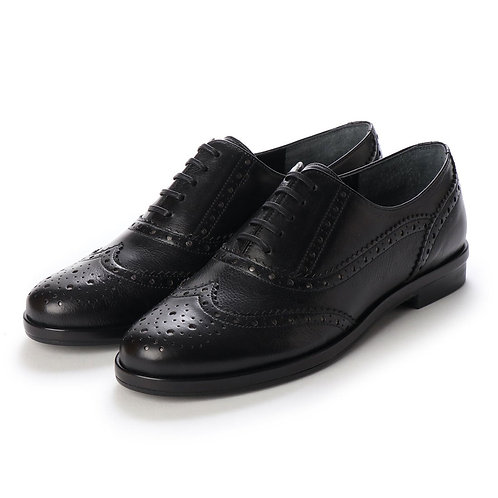 Wing tip shoes Black