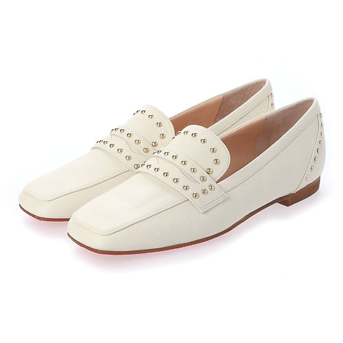 Studs loafer White