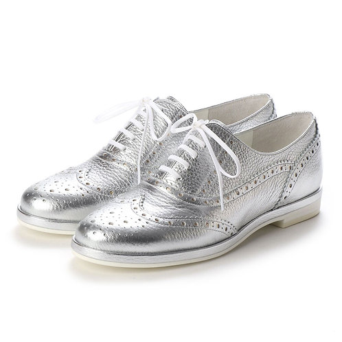 Wing tip shoes Silver