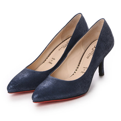Almond toe pumps Navy