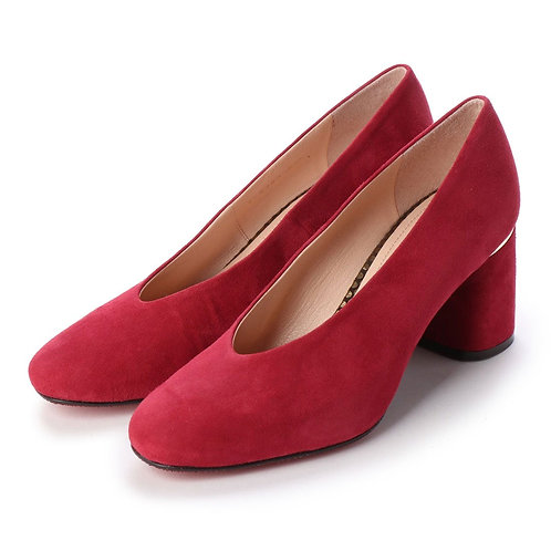 Soft square pumps Red